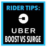 uber boost versus surge driver tips